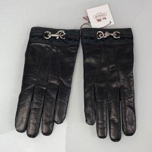 Coach Black Soft Genuine Leather Gloves